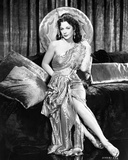 Hedy Lamarr wearing a Silk Dress with Big Hat Photo by  Movie Star News