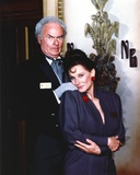 Harvey Korman in Suit and Printed Tie with Woman Photo by  Movie Star News