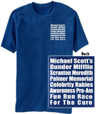 The Office- Fun Run Race (Front/Back) Tshirts