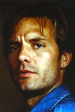 Michael Biehn Posed in Close-up Portrait wearing Blue Denim Jacket Photo by  Movie Star News