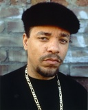 Ice t wearing a Black Shirt with a Necklace Photo by  Movie Star News
