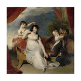 Maria Mathilda Bingham with Two of Her Children Kunst af Thomas Lawrence