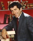 Barry Newman in Formal Outfit Leaning on Pile of Books Photo by  Movie Star News
