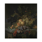 Still Life with Fruit Print by Jacob van Walscapelle