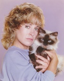 Catherine Hicks Close Up Portrait with Cat Photo by  Movie Star News