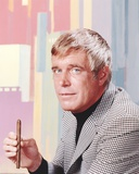 George Peppard in Formal Outfit With Cigarette Portrait Photo af Movie Star News