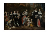 Group Portrait of Michiel De Ruyter and His Family Print by Juriaen Jacobsz