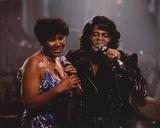 Aretha Franklin Duet in Glitter Dress Candid Photo Foto af  Movie Star News