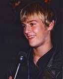 Aaron Carter Aaron Carter Undergoing an Interview in Black Jacket Photo by  Movie Star News