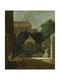 An Amsterdam Canal House Garden, Cornelis Troost Prints by Cornelis Troost