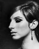 Barbra Streisand Close Up Portrait With Black Background with Hook Earrings Photo by  Movie Star News