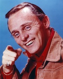 Frank Gorshin Posed in Red Shirt Pointing at the Photographer Photo by  Movie Star News