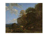Italian Landscape Print by Nicolaes Pietersz. Berchem