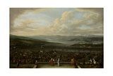 View of Istanbul from the Dutch Embassy at Pera, Jean Baptiste Vanmour Giclée-Premiumdruck von Jean Baptiste Vanmour
