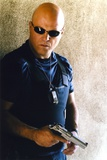 Michael Chiklis Holding Pistol in Sunglasses Photo by  Movie Star News