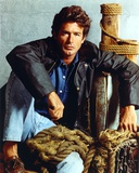 Jack Scalia in Jeans and Black Jacket Portrait Photo by  Movie Star News