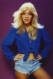 Lydia Cornell Posed in Blue Blouse Photo by  Movie Star News