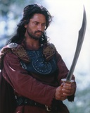 Gerard Butler in Warrior Outfit with Sword Portrait Photo by  Movie Star News