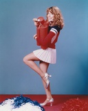 Dana Plato wearing Red Sleeves and White Skirt With Dynamites Photo by  Movie Star News