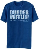 The Office- Distressed Dunder Mifflin Logo Shirts
