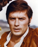 Alain Delon wearing Brown Suit in Close Up Portrait Photo by  Movie Star News