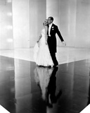 Fred Astaire and Ginger Rogers Dancing on Floor with their Reflection Photo by  Movie Star News