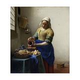 Milkmaid Prints by Johannes Vermeer