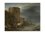 City Wall of Haarlem in the Winter Posters by Nicolaes Pietersz. Berchem