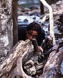 Benicio Del Toro Hiding in Woods Photo by  Movie Star News