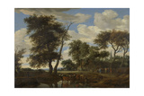 View of a Village, Salomon Van Ruysdael Print by Salomon van Ruysdael