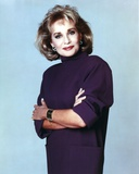 Barbara Walters Portrait in Violet Dress Photo by  Movie Star News