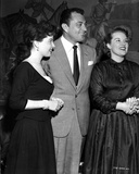 Cyd Charisse smiling with Friends in Black and White Photo by  Movie Star News