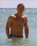 Daniel Craig Posed in Beach Photo by  Movie Star News