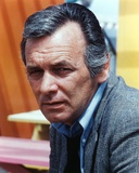 David Janssen in Close Up Portrait in Black Coat Photo by  Movie Star News