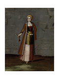 Woman from the Island of Tinos Giclée-Premiumdruck von Jean Baptiste Vanmour
