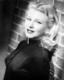 Ginger Rogers wearing Black Dress with Red lipstick and Curly Hair Photo by  Movie Star News