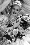 Norma Shearer Portrait in Classic with Bouquet Photo by  Movie Star News