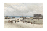 Beach at Scheveningen Print by Johannes Bosboom