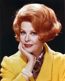 Portrait of Arlene Dahl in Yellow Coat with Gold Bracelet Photo by  Movie Star News