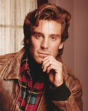 Pretender Cast Member Michael Weiss Hand on Chin Pose in Brown Leather Jacket Photo by  Movie Star News