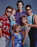 Full House Cast Posed in Blue Background Photo by  Movie Star News