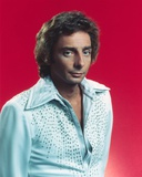 Close Up Portrait of Barry Manilow in White Sleeves with Red Background Photo by  Movie Star News
