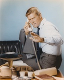 Chuck Connors Holding Telephone Handle in White Polo Photo by  Movie Star News
