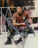 Colin Farrell wearing Army Uniform with Sniper Rifle Candid Photo Photo by  Movie Star News
