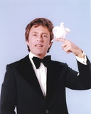 Bill Bixby Posed wearing Tuxedo with Dove on Hand with Gray Background Portrait Photo by  Movie Star News