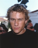 Heath Ledger wearing a Black Shirt Photo by  Movie Star News