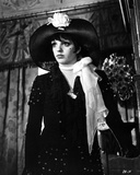 Liza Minnelli wearing Gown and Hat in Black and White Portrait Photo by  Movie Star News