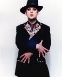 Boy George on a Printed Collar Coat Portrait Photo by  Movie Star News