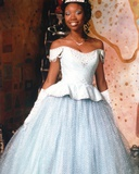 Brandy in White Gown Photo by  Movie Star News