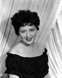 Helen Morgan on an Off Shoulder Dress and smiling Photo by  Movie Star News